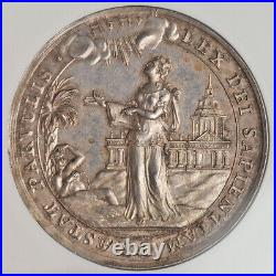 1712, Switzerland. Silver University of Geneva Prize Award Medal. NGC MS-64