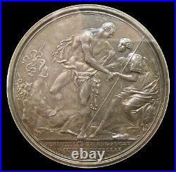 1746 GEORGE II BATTLE OF CULLODEN 51mm SILVER MEDAL NGC AU55