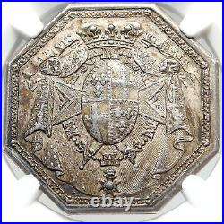 1773 FRANCE King LOUIS XV Order of Mont Carmel FRENCH NGC Silver Medal i83691