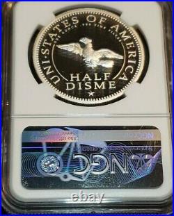 1792-2017 1oz Silver Medal Private Issue Half Disme 25th Anniversary Ultra Cameo
