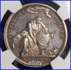 1793, Germany/France. Silver Louis XVI, Mourning & Vengeance Medal. NGC MS-62