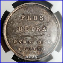 1850, Baden, Stuttgart (City). Rare Silver High School Award Medal. NGC MS-64