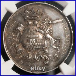 1860, Belgium, Ypres (CIty). Scarce Silver Municipal Council Medal. NGC MS-61