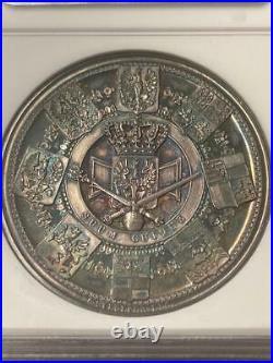 1861 German States Prussia Wilhelm I Silver Coronation Medal NGC MS61 Marienburg