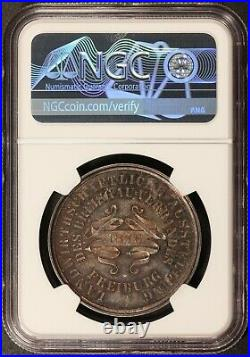 1876 Germany Breisgau Agriculture Expo 37mm Silver Medal NGC MS 64