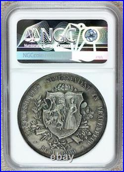 1890 Switzerland Thurgau Swiss Shooting Festival Silver Medal R-1250b NGC MS 62