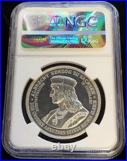 1898 Silver German State Saxony Alberty Jubilee Medal Ngc Proof 61 Barduleck 155