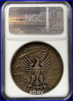 1898 Swiss Shooting Fest Medal, R-970c, AR, 45 mm, Neuchatel, UNC Details by NGC