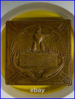 1904 Philippines Louisiana Purchase Expo Silver Plated Bronze Medal Ngc Au Detai