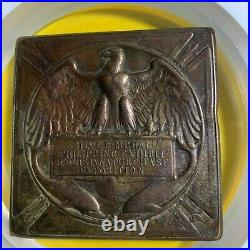 1904 Philippines Louisiana Purchase Expo Silver Plated Bronze Medal Ngc Xf