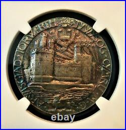 1911 Silver Great Britain Edward Prince Of Wales Investiture Medal, Ngcms65