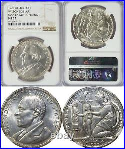 1920 Philippines Wilson So-Called Dollar/ Medal HK-449 NGC MS62 Silver 01