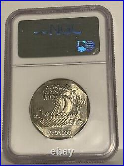 1925 Norse American Centennial Commemorative Medal Thick Silver NGC MS 65