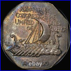 1925 Norse Commemorative Medal Thin Ngc Ms63 Uber-cool-toned Low Mintage