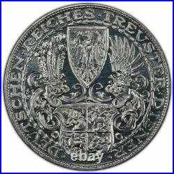 1927 D Weimar Republic 5 Mark Hindenburg Karl Goetz Medal Pcgs Sp 62