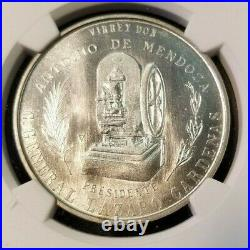 1936 MEXICO SILVER MEDAL GROVE 490a MINT 400TH ANNIVERSARY NGC MS 65 MONSTER