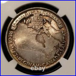 1939 Great Britain Silver Medal Bhm-4394 Royal Visit To Canada Ngc Ms 63