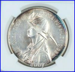 1951 MEXICO SILVER MEDAL GROVE 587a 1ST MINERAL RESOURCE CONVENTION NGC MS 61