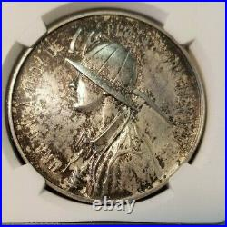 1951 MEXICO SILVER MEDAL GROVE 587a 1ST MINERAL RESOURCE CONVENTION NGC MS 62