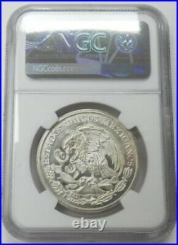 1962Mo Mexico Silver Medal Grove-800a Battle of Cinco de Mayo NGC MS66 bkc
