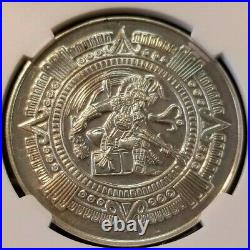 1968 MEXICO SILVER GROVE 1017a MEXICO CITY OLYMPICS NGC MS 62 VERY SCARCE MEDAL