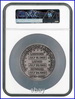 1969-2019 Apollo 11 50th Robbins Medal 5 oz Silver w Alloy NGC GEM Unc SKU56030