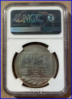 1969 Silver Apollo 11 One Small Step For A Man Ngc Ms 67 Medal Space Nasa