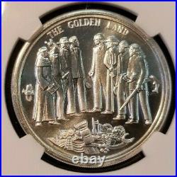 1969 Silver California Bicentennial Medallic Art Co 39mm Ngc Ms 65 Pl Top Pop