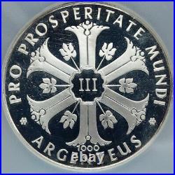 1970 GERMANY Argenteus NUDE WOMAN Petals VINTAGE Silver 3 Ducat Medal NGC i87394
