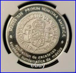1974 Mexico Medal 1810 Zacatecas Provisional 8 Reales Ngc Pf 66 Ultra Cameo