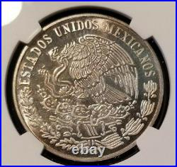 1975 Mexico Silver Medal National Banking & Insurance Comission Anniv Ngc Ms 64