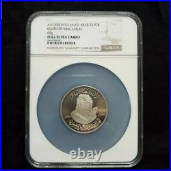 1975 Saudi Arabia Silver Medal of King Faisal NGC PROOF 62