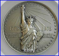 1976 SILVER (8.3 ozs) NGC MS 67 American Revolution BICENTENNIAL MEDAL L@@K