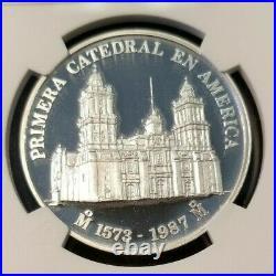 1987 Mexico Silver Medal Metropolitan Cathedral Ngc Pf 69 Ultra Cameo Top Pop