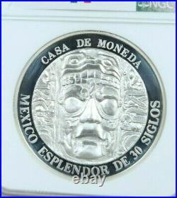 1992 Mexico Silver Medal Splendor Of 30 Centuries Ngc Pf 64 Ultra Cameo Scarce