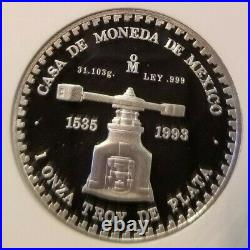 1993 Mexico Silver Medal Tenochtitlan Piedra De Los Soles Ngc Pf 69 Ultra Cameo