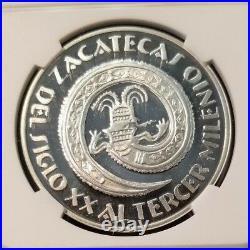1998 Mexico 31g Silver Medal Zacatecas 450th Anniversary Ngc Pf 66 Ultra Cameo