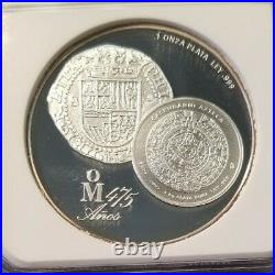 2010 Mexico Silver Medal Mexican Mint 475th Anniversary Ngc Pf 68 Ultra Cameo