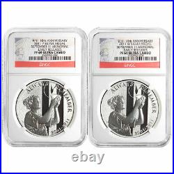 2011 P&W 9/11 10th Anniv. 2 pc. Silver Medal Set NGC PF69UC Early Releases