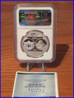 2013-Berlin World Money Fair Medal N. G. C. Proof-70 Ultra Cameo