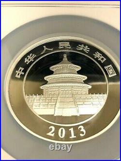 2013 China 5 Oz S50y Panda Ngc Pf 69 Ultra Cameo Silver Medallion