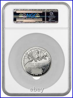 2016 France 5 oz Silver Statue Liberty 150th Commem Medal NGC MS70