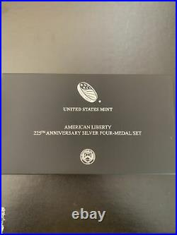 2017 225th Anniversary American Liberty Silver Medal 4pc NGC 70 First Day OGP