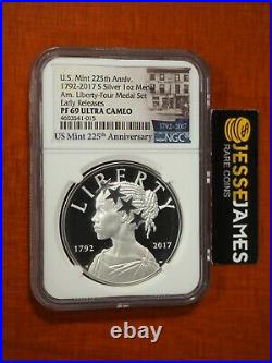 2017 S American Liberty Proof Silver Medal Ngc Pf69 Ultra Cameo From 4 Medal Set