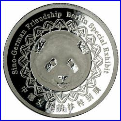 2017(S) China Berlin World Money Fair 16g Silver PF70 Panda Piedfort Proof Medal