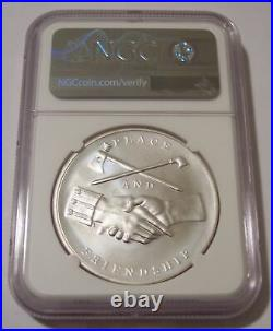 2018 George Washington Presidential Silver Medal MS70 NGC Mike Castle Signed