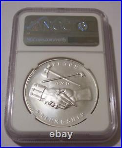 2018 George Washington U. S. Mint 1 oz Silver Medal MS70 NGC Mike Castle Signed