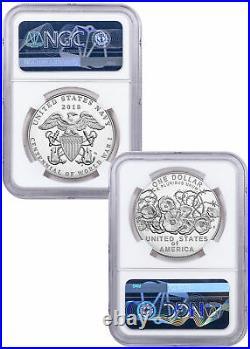 2018 WWI Centennial Silver Dollar W Navy Medal NGC PF70 UC Bressett SKU58153