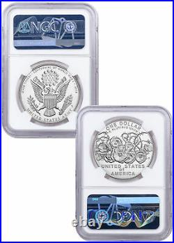 2018 WWI Centennial Silver Dollar W US Army Medal NGC PF70 UC Bresset SKU58150