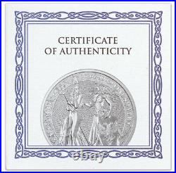 2019 1 oz Silver Allegories Germania & Britannia Medal NGC MS69 Early Releases